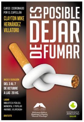 afiche dejar de fumar 2